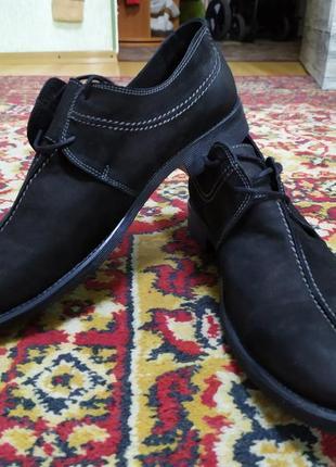 Мужские туфли из нубука strado