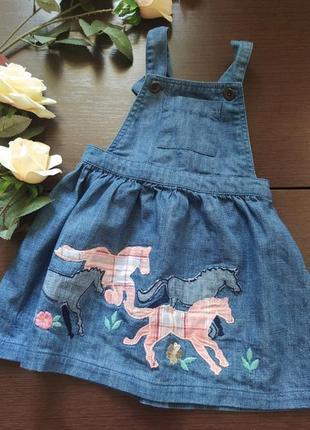 Monterey джинсовый сарафан платье