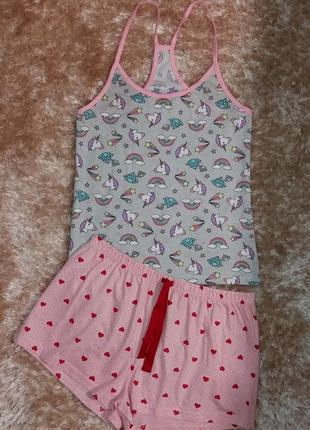 Фирменная пижамка или костюмчик для дома 16-18 размер, евро 8-50