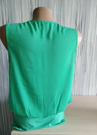 Зеленый боди на запах6 фото