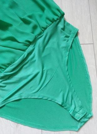 Зеленый боди на запах7 фото