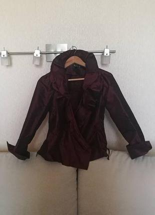 Роскошная вечерняя блуза из органзы цвета марсала