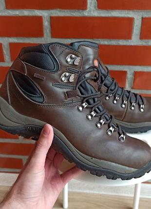 Merrell waterproof коричневые кожаные ботинки размер 45