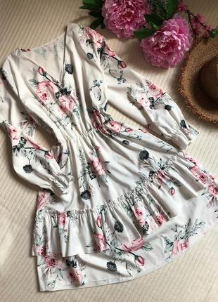 Шикарное актуальное платье в цветочный принт