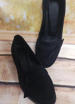 Натуральные туфли балетки