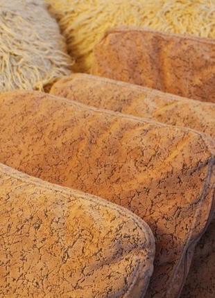Качественные диванные подушки шенилл бежевые