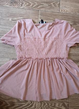 Красивая блуза пудровый цвет