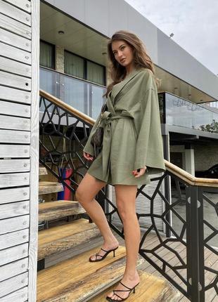 Льняное платье рубашка лён кимоно рубаха лен плаття льон плаття рубашка кімоно