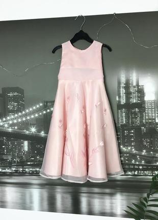 Нежно розовое платье на 2-3 года
