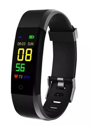 Фитнес браслет smart band 115 plus черный