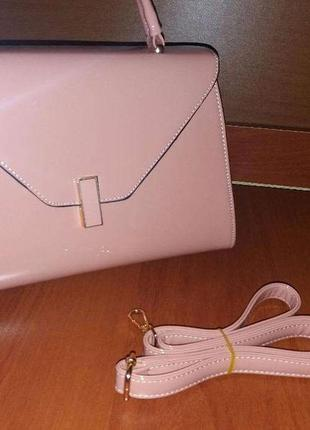 Лаковая женская сумка baliviya пуровая