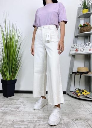 Новые джинсы кюлоты высокая посадка клеш wide leg h&m