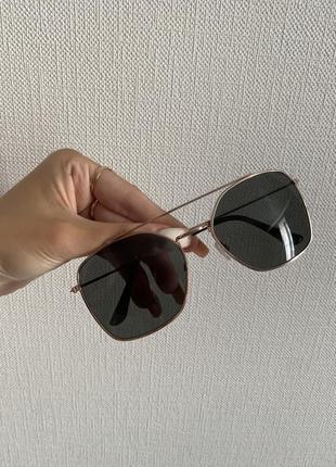 Очки солнцезащитные капли круглые квадратные тонкие с