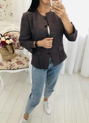Windsor люкс бренд  пиджак блейзер жакет в цвете дымчатый королевский пурпур шерсть