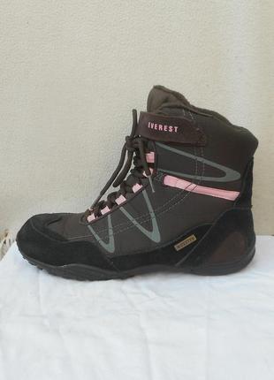 Высокие замшевые треккинговые спортивные кроссовки