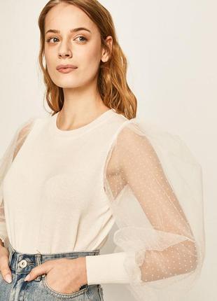 Блуза с рукавами из органзы