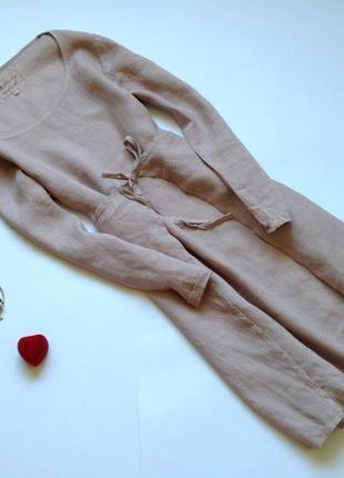 Льняное платье миди оверсайз jdl clothing