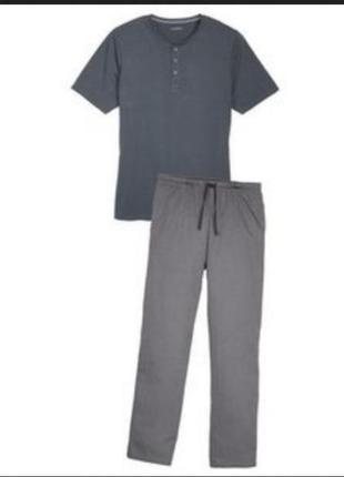 Стильная мужская пижама домашний костюм футболка и штаны livergy xl
