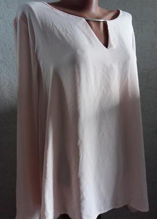 Стильная, легкая  блуза пудренного цвета