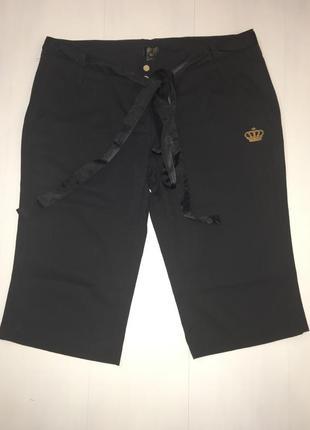 Брюки шорты капри adidas с атласным поясом размер 42 u.k. 16 l