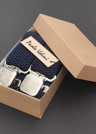 Широкие мужские подтяжки paolo udini + подарочная упаковка