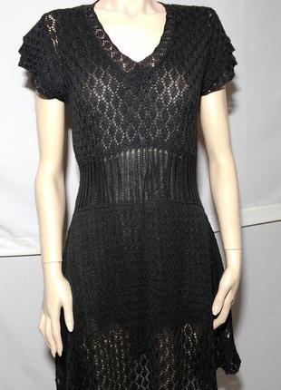 Серое вязанное платье туника от miss etam