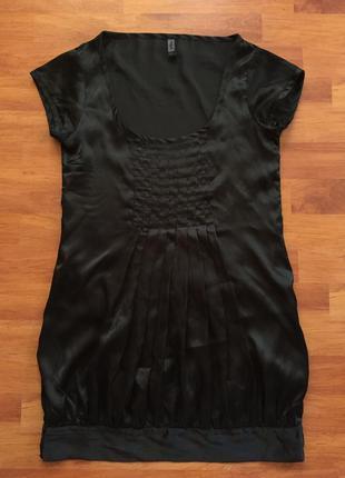 Черная туника / мини платье