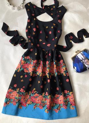 Платье миди из вискозы dorothy perkins пояс на спине бант