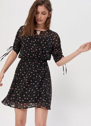 Платье летнее 2 в 1 ,рукав со сборкой