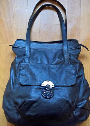 Большая кожаная сумка betty jackson black.
