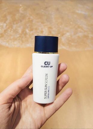 Солнцезащитная clean-up super sunscreen spf 50+ pa+++ бесплатная доставка