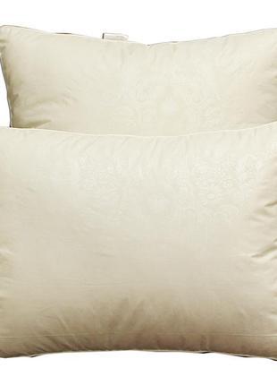 Подушка с бортом бежевая (искусственный лебяжий пух)  тм tag