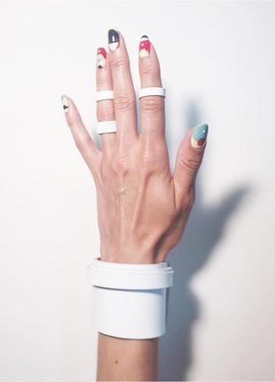 Сет набор браслет + кольца. минимализм,кожа (есть цвета и размеры)