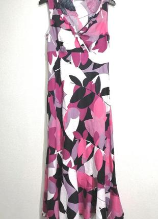 Очень красивое льняное платье maxi, uk 14