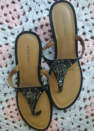 Женские шлепанцы # летняя обувь # босоножки nina west