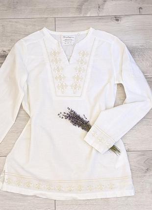 Тренд люкс бренд белая блуза вышиванка блузка топ вышивка бохо стиль прованс винтаж ретро
