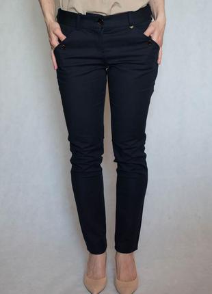 Темно-синие брюки massimo dutti