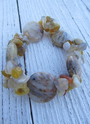 Браслет рутиловый кварц, натуральный камень