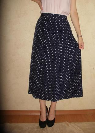 Элегантная юбка-плиссе юбка со складками st michael m&s в горох