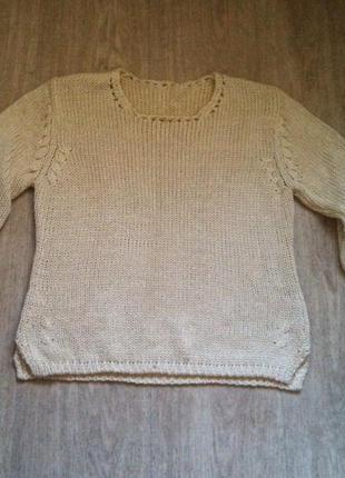 Бежевый свитер-кольчуга