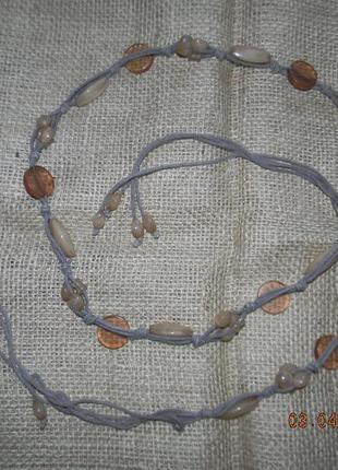 Нежный пояс -украшение с бусинами
