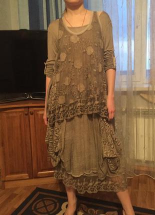 Шикарное платье 2в1, оверсайз