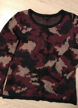 Тёплый разноцветный свитер