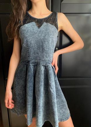 Джинсове плаття, платья. розмір s.