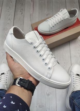 Мужские кожаные кеды кроссовки туфли натуральная кожа luis-3 white
