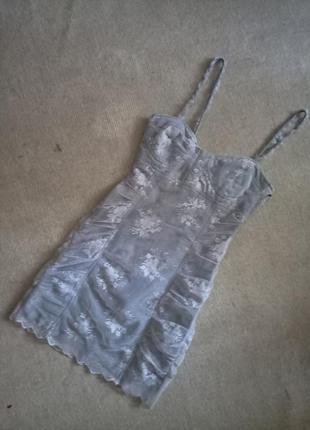 Супер нарядное платье (гипюр)