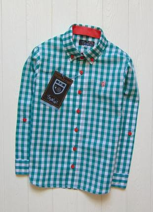 Trasluz (испания). размер 10 лет. новая шикарная рубашка для мальчика