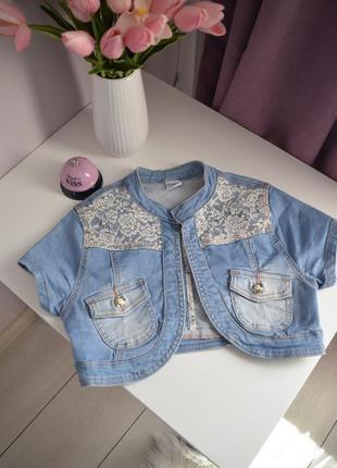 Джинсовой пиджак, размер s