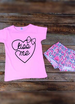 Женская пижамка. футболка+шортики