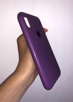 Чехол фиолетовый  iphone х